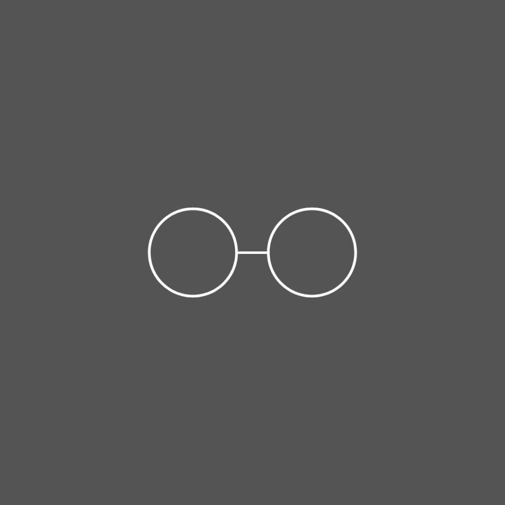 Icon line drawing of glasses