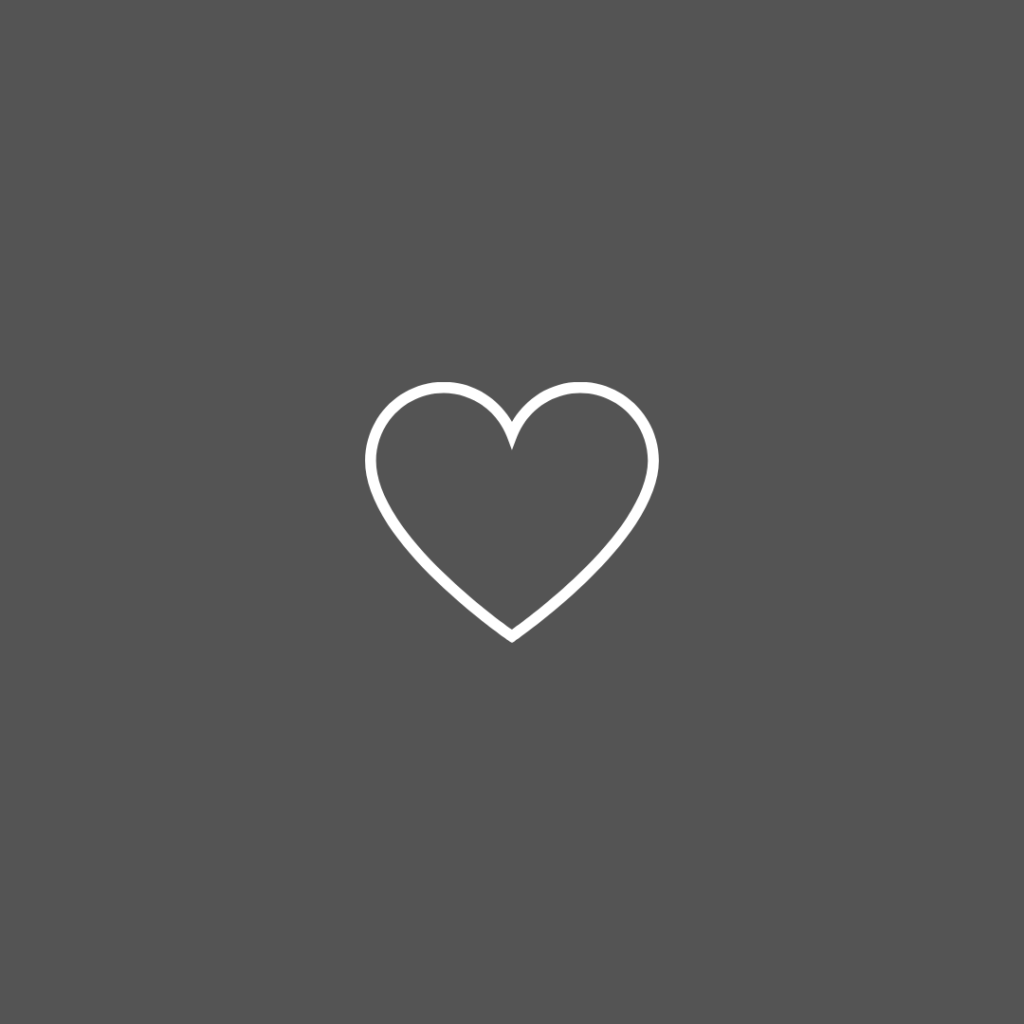 Icon line drawing of a heart