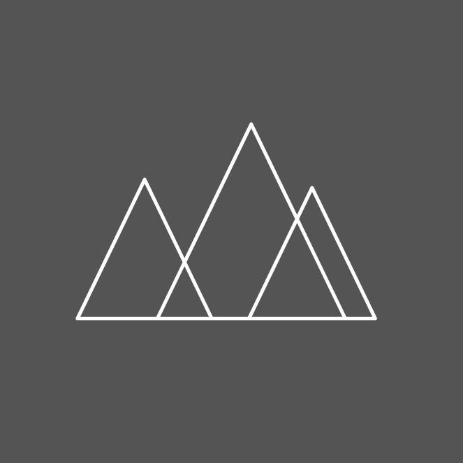 Icon line drawing of mountains